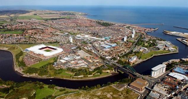 Vista aérea de Sunderland