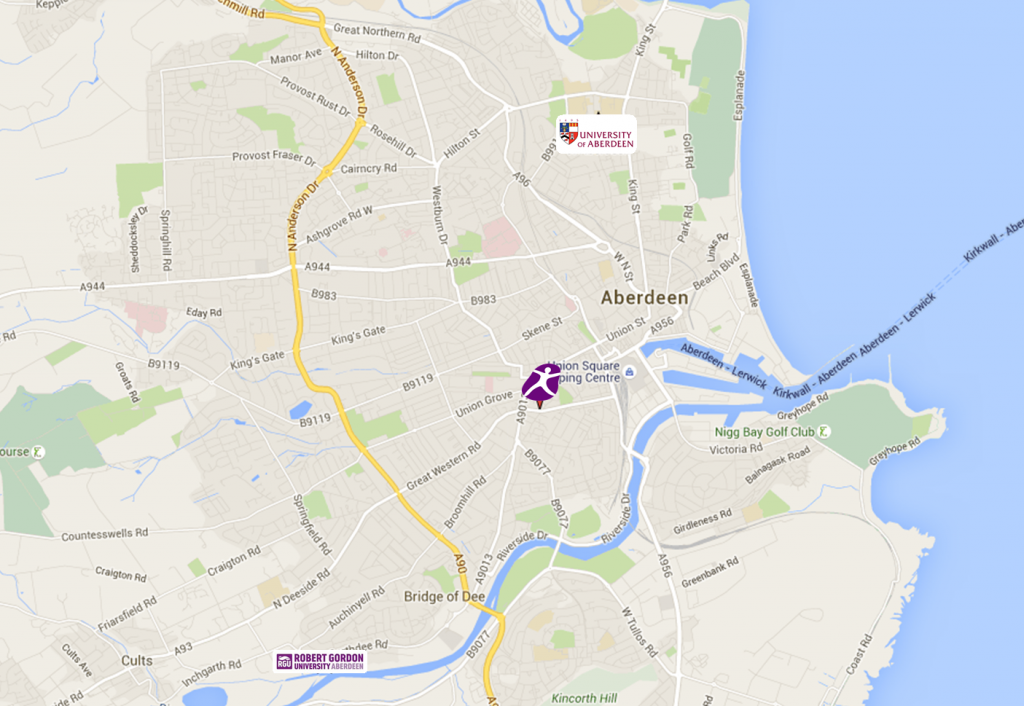 Map-aberdeen-u-student