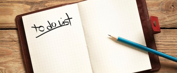 End of year 'to do list'